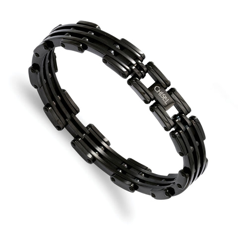 Stainless Steel Black IP-plated Bracelet