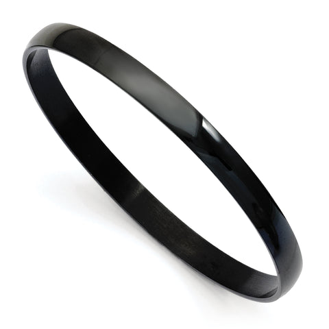 Stainless Steel Black IP Plated Bangle