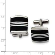 Load image into Gallery viewer, Stainless Steel Enameled Cuff Links