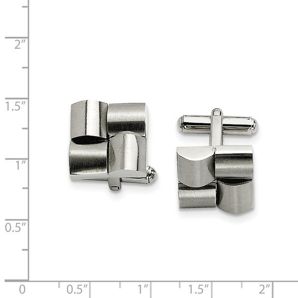Stainless Steel Brushed Cuff Links