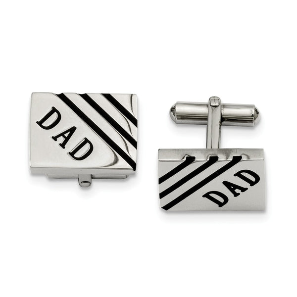 Stainless Steel Dad Cuff Links