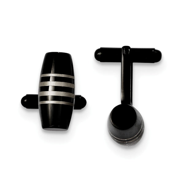 Stainless Steel Black IP-plated Cuff Links