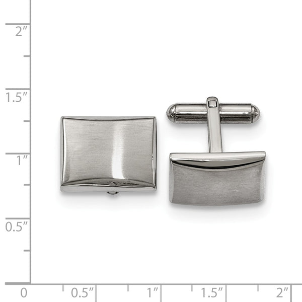 Stainless Steel Polished and Brushed Cuff Links
