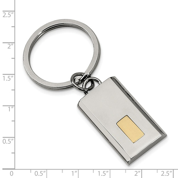 Stainless Steel Polished Yellow IP-plated Key Chain