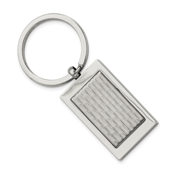Stainless Steel Polished and Textured Key Ring