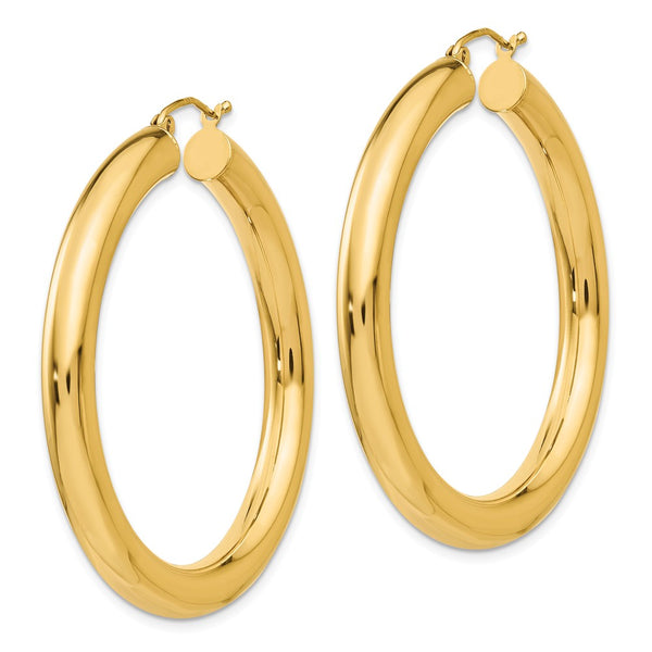 14k Polished 5mm Lightweight Hoop Earrings