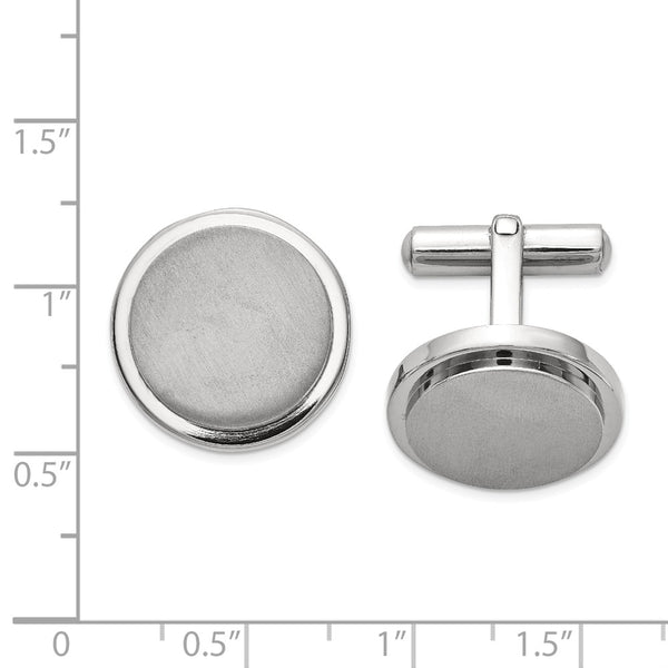 Titanium Brushed and Polished Cuff Links