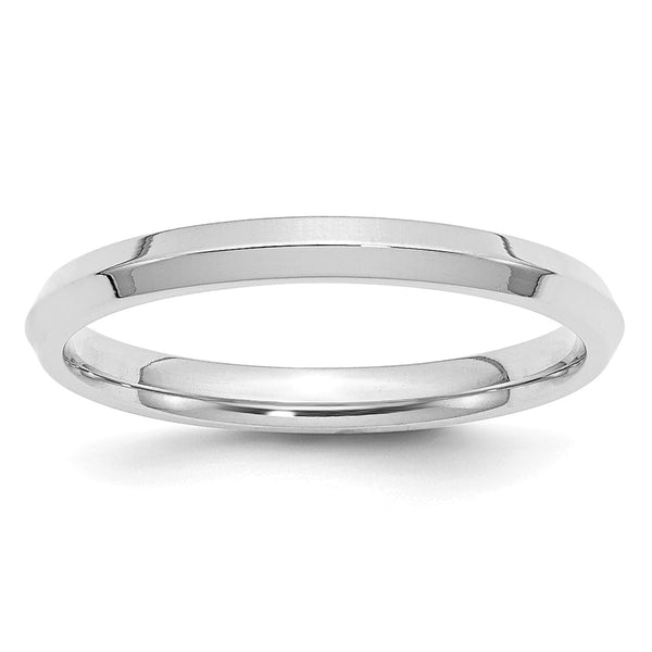 10K White Gold 2.5mm Knife Edge Comfort Fit Band (Size 4-14)