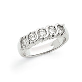 14K White Gold VS Diamond 5-Stone Ring