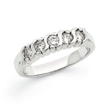 14K White Gold A Diamond 5-Stone Ring