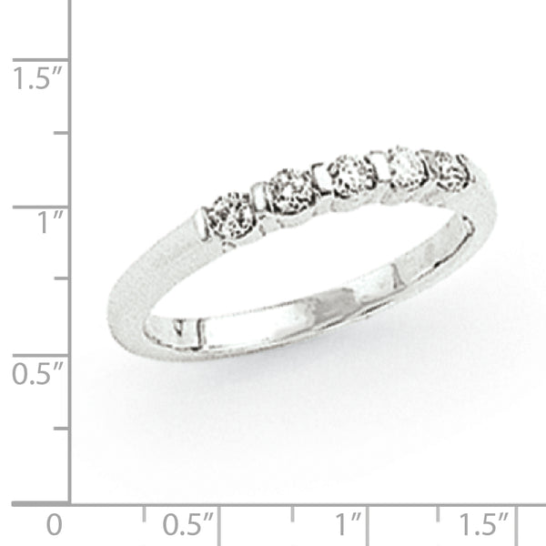 14K White Gold VS Diamond Ring