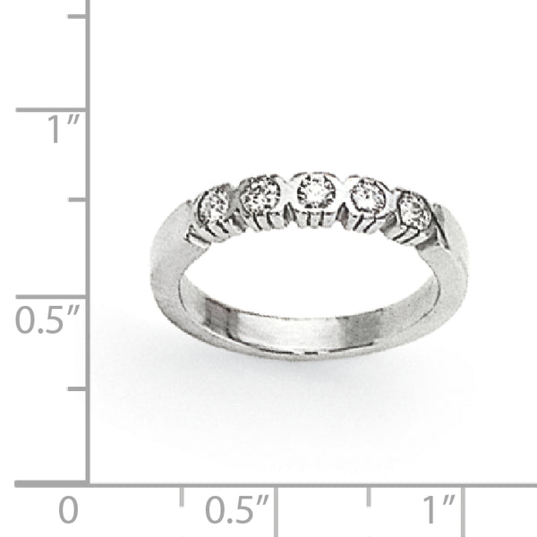 14K White Gold VS Diamond Anniversary Band