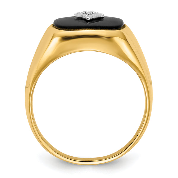 14K AA Diamond men's ring