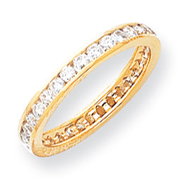14K AA Diamond Eternity Band