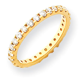 14K Moissanite Eternity Band