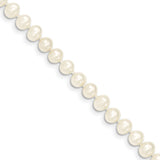 14k 5-6mm White Near Round Freshwater Cultured Pearl Bracelet