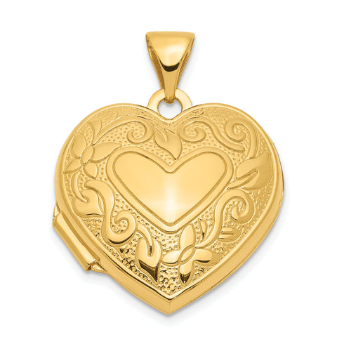 14K 18mm Heart Locket