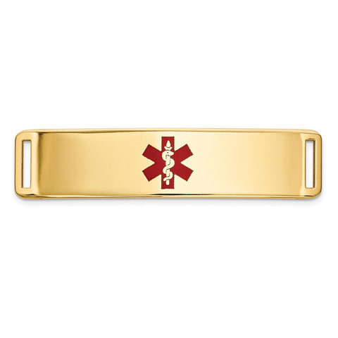 14K Epoxy Enameled Medical ID Ctr Plate # 820