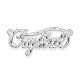 14K .013 Gauge White Gold Polished Diamond-cut Name Plate