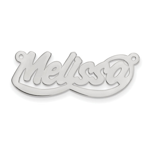 14K .013 Gauge White Gold Polished Nameplate - Flyer Pg. 2