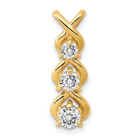 14K AAA Diamond chain slide