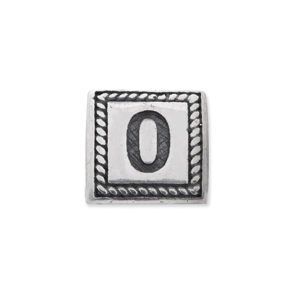 Sterling Silver Reflections Number 0 Triangle Block Bead