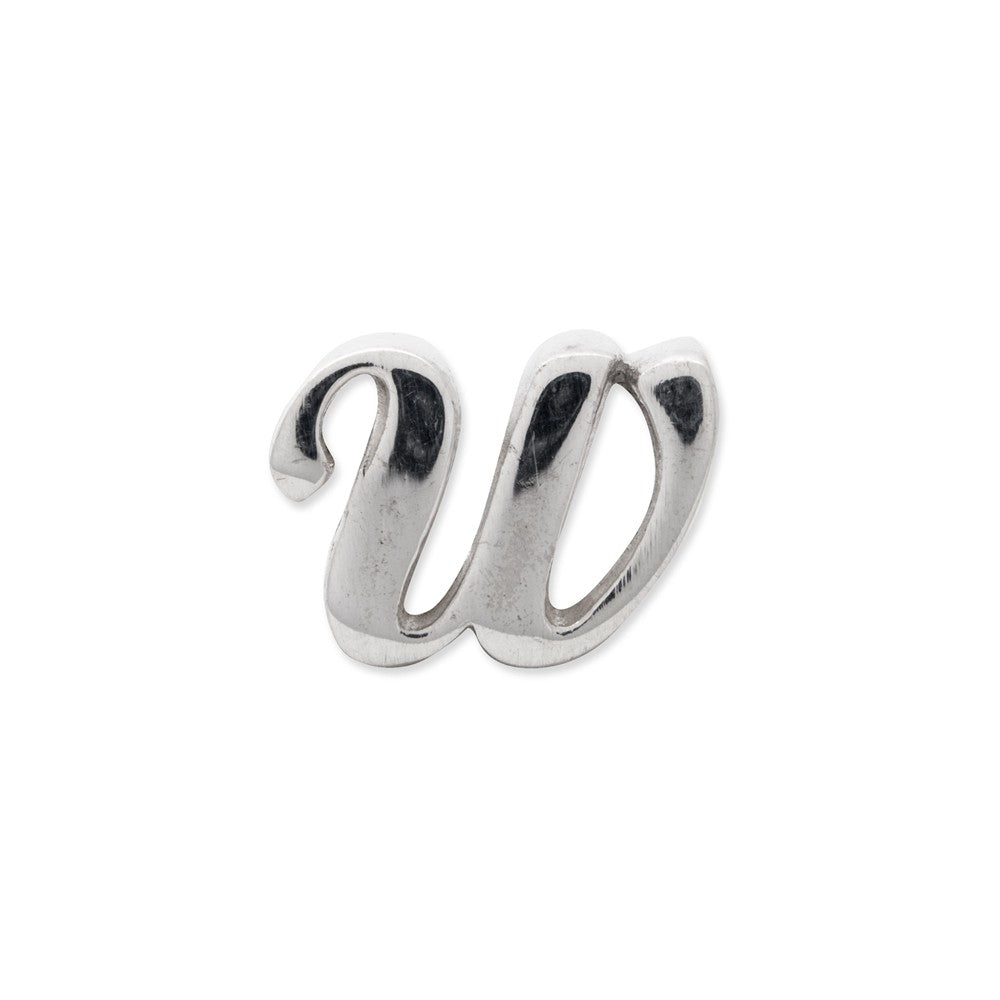 Sterling Silver Reflections Letter W Script Bead