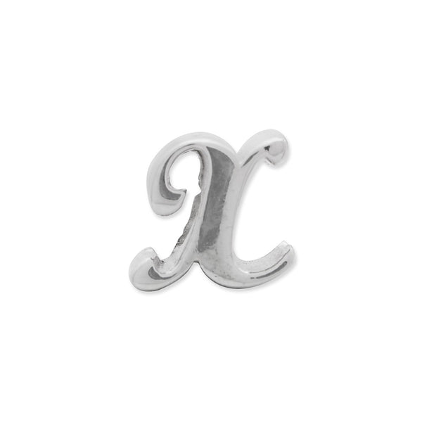 Sterling Silver Reflections Letter X Script Bead