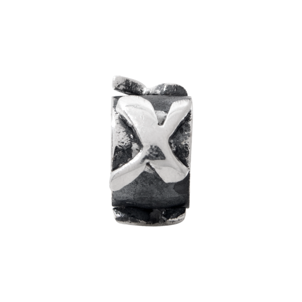 Sterling Silver Reflections Letter X Message Bead