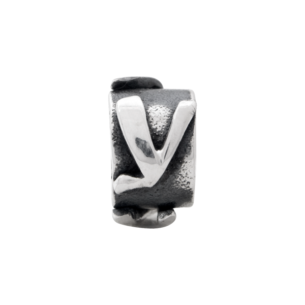 Sterling Silver Reflections Letter Y Message Bead