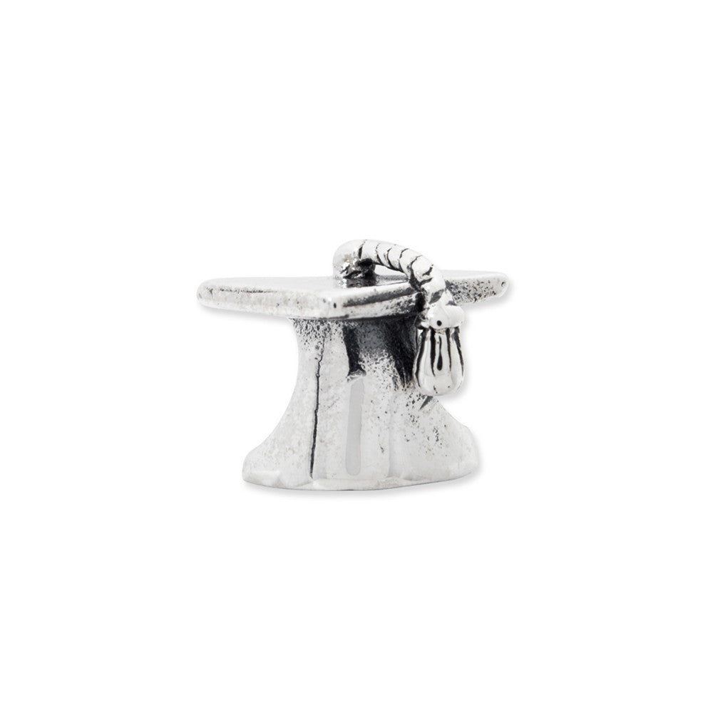 Sterling silver Reflections Graduation Cap Bead