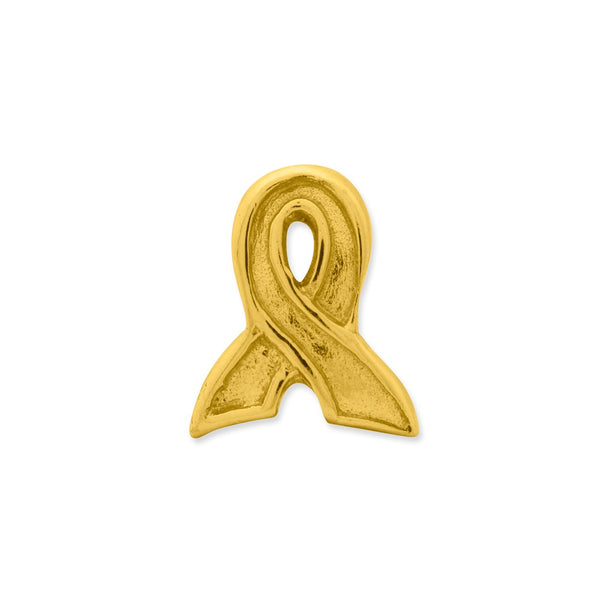Sterling Silver Gold-plated Reflections Awareness Ribbon Bead