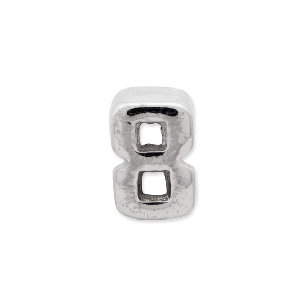 Sterling Silver Reflections Number 8 Bead