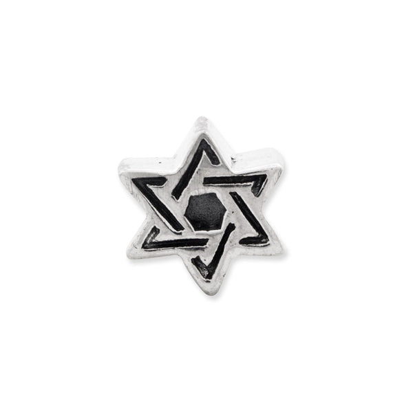 Sterling Silver Reflections Kids Star of David Bead
