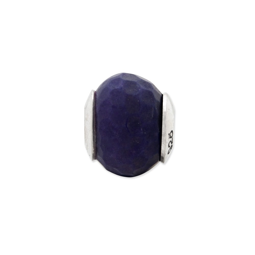 Sterling Silver Reflections Purple Quartz Stone Bead