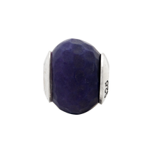 Load image into Gallery viewer, Sterling Silver Reflections Purple Quartz Stone Bead