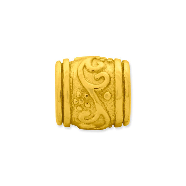 Sterling Silver Gold-plated Reflections Floral Bead