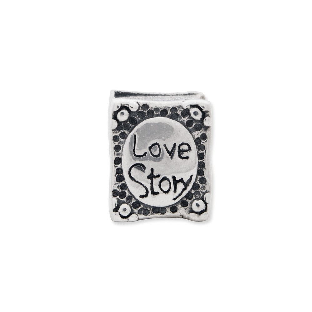 Sterling Silver Reflections Love Story Book Bead