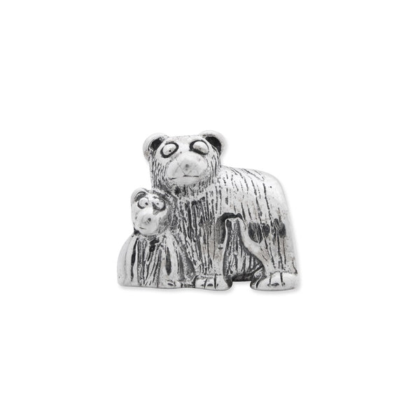Sterling Silver Reflections Mama & Baby Bear Bead