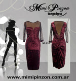 Salon Tango Dress ML637 Bordo