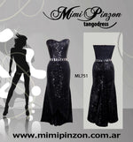Salon Tango Dress ML751 Negro