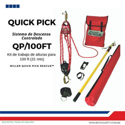 SISTEMA DE DESCENSO CONTROLADO  QUICK PICK DE 100 PIES ( 30.5 MTS)