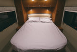100% Cotton Fitted Sheet Set for Leisure Travel Vans Unity Island Bed