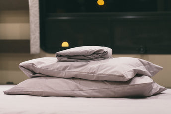 Organic Cotton Fitted Sheet Set for Leisure Travel Vans Unity Corner Bed