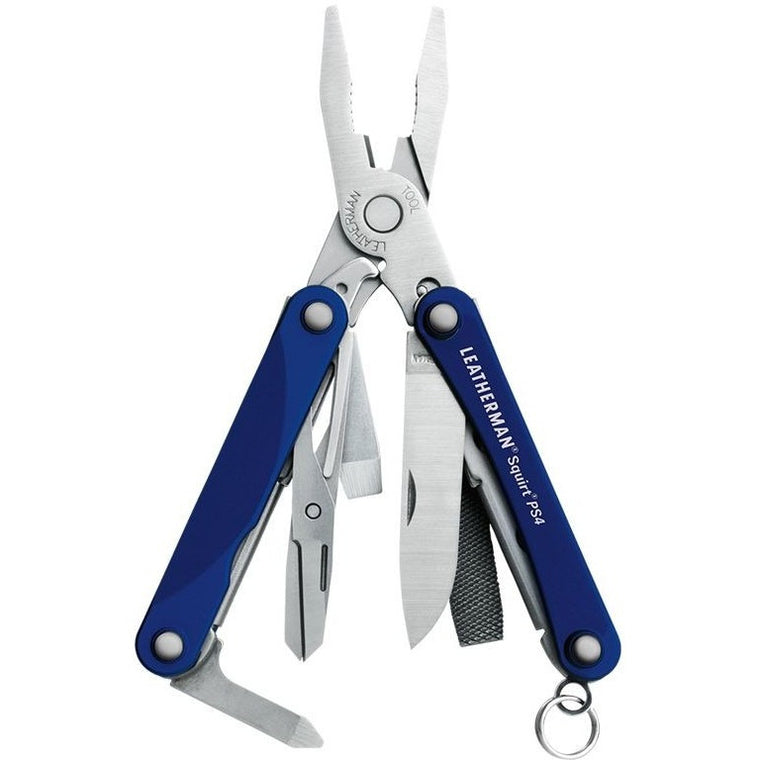 Leatherman Squirt PS4 (Blue) Multi-tool, Brands A-Z,Shooting Accessories, Leatherman  - www.clunycountrystore.co.uk