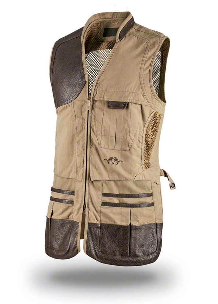 Blaser Parcours Tan Shooting Vest, www.clunycountrystore.co.uk,