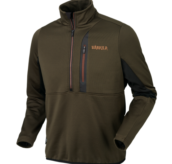 Harkila Tidan Hybrid half zip fleece jacket, www.clunycountrystore.co.uk,