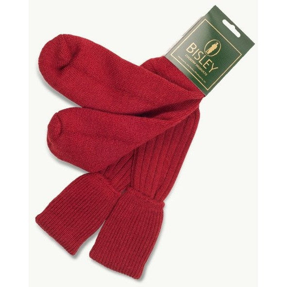 Bisley Red Woolen Shooting Socks, www.clunycountrystore.co.uk, Brands A-Z,Clothing & Footwear, Bisley