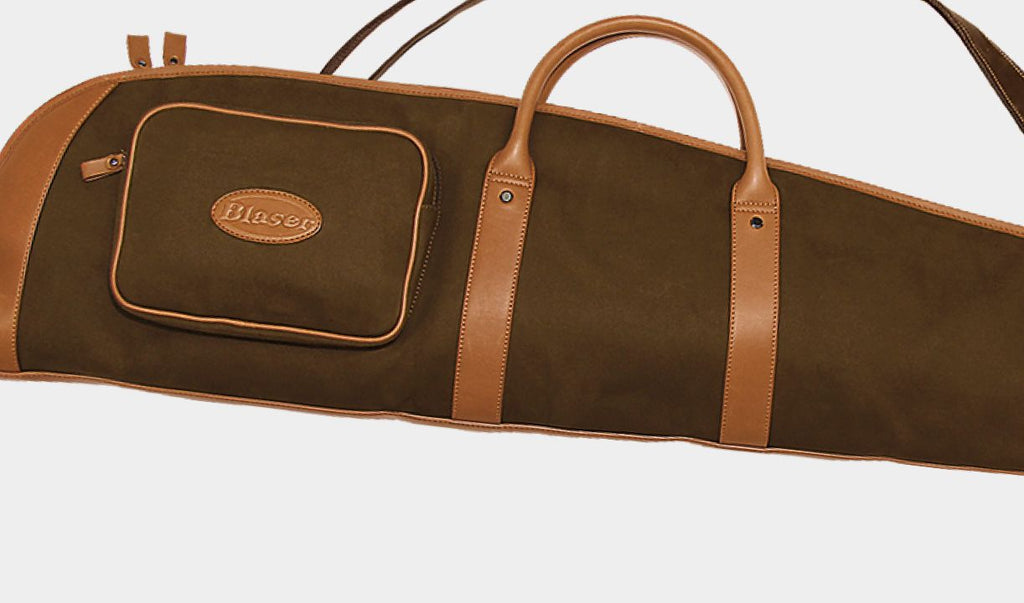 Blaser Twill Leather Type A Shotgun Slip, www.clunycountrystore.co.uk, Shooting Accessories, Blaser