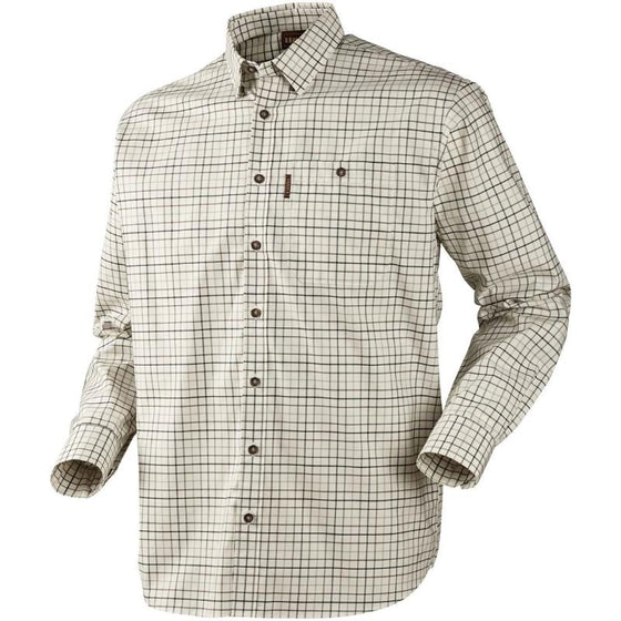 Harkila Lancaster Shirt (stone check), www.clunycountrystore.co.uk, Brands A-Z,Clothing & Footwear, Harkila